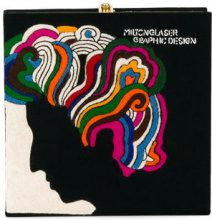 Olympia Le-Tan - Milton Glaser book clutch - women - Wool/metal - OS - BLACK
