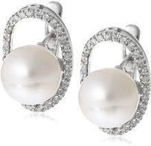 Miore - Orecchini da donna con diamante (0,33 ct), oro bianco 18k (750), 16,50 mm, cod. M0848