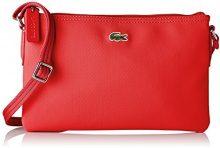 Lacoste NF1887PO, Borsa a Tracolla Donna, RED Alto Rischio (High Risk Red), 17.5 x 1 x 27 cm