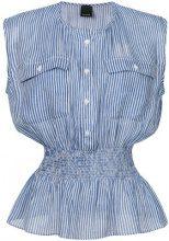 Pinko - Blusa con stampa righe sfumate - women - Viscose - 44, 46, 42 - BLUE