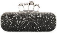 Alexander McQueen - Clutch 'Studded Knuckle Box' - women - Leather/metal - One Size - Nero