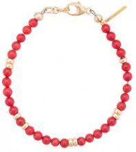 Nialaya Jewelry - Braccialetto con perline - women - Coral/GOLD INGREDIENTS - XS, S, M, L - RED