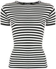 Junya Watanabe - T-shirt aderente a righe - women - Nylon/Polyurethane - S, M - BLACK
