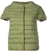 Herno - short sleeve padded jacket - women - Polyester/Nylon/Polyurethane - 40, 42 - GREEN