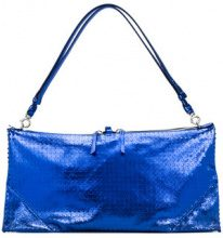 Maison Margiela - rectangular textured shoulder bag - women - Leather - OS - BLUE