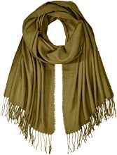 PIECES Pckial Long Scarf Noos, Sciarpa Donna, Verde (Winter Moss Winter Moss), Taglia unica