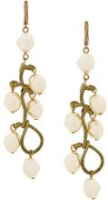 Marni - faux-pearl pendant earrings - women - Brass - One Size - NUDE & NEUTRALS