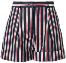 P.A.R.O.S.H. - Shorts a righe - women - Cotone/Polyester - XS, S - BLUE