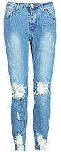 Jess jeans skinny a vita media effetto consumato alla caviglia