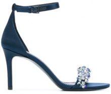 Tory Burch - Logan stiletto sandals - women - Leather/PVC - 7, 8, 8.5, 10 - BLUE