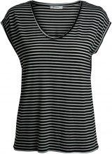PIECES Striped T-shirt Women Black