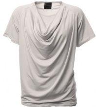 T-shirt con collo a cascata