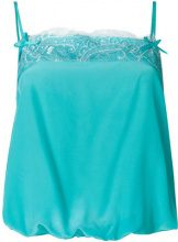 Twin-Set - Top con bordi in pizzo - women - Silk/Polyamide - 40, 42, 44, 46 - BLUE