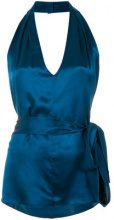 Tufi Duek - halter neck blouse - women - Silk - 36, 38, 40, 42 - BLUE
