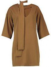 Stacey Tie Neck Kimono Sleeve Shift Dress