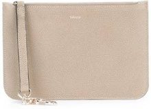 Valextra - Clutch con zip - women - Calf Leather - OS - Color carne & neutri