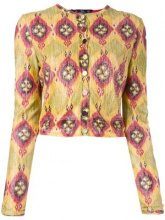 - John Galliano Vintage - cropped jacket - women - fibra sintetica - S - di colore giallo