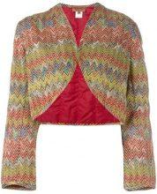 Missoni Vintage - Bolero imbottito - women - Cotton/Polyester/Cupro/Rayon - 42 - MULTICOLOUR