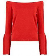 Abra Off The Shoulder Flute Sleeve Knitted Top