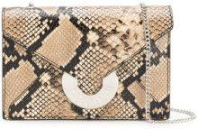 Just Cavalli - Borsa a busta - women - Cotton/Goat Skin/Aluminium/copper - OS - BROWN