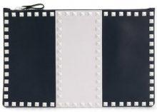 Valentino - Valentino Garavani Free Rockstud clutch - women - Leather - OS - BLUE