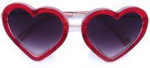 Linda Farrow - heart frame sunglasses - women - Acetate - OS - RED