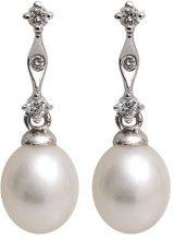 Kimura Pearls EN0090-301 - Orecchini da donna, oro bianco 9k (375)