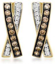 Carissima Gold Orecchini da Donna, Oro Giallo 9K (375), con Diamante