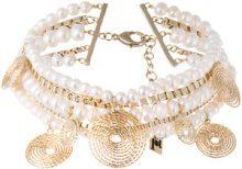 Rosantica - Choker 'Armonia' - women - Pearls/Brass - OS - METALLIC