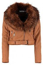 Lois Faux Fur Collar Biker Jacket