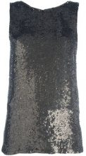 P.A.R.O.S.H. - metallic sequin tank - women - Viscose/PVC - XS - GREEN