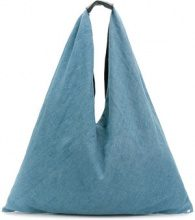 Mm6 Maison Margiela - Norma big tote bag - women - Cotton/Polyester/Leather - One Size - BLUE