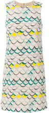 M Missoni - scallop print dress - women - Silk/Cotton/Polyester - 40, 42, 44, 46 - NUDE & NEUTRALS