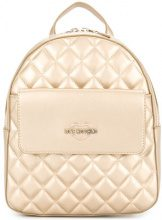 Love Moschino - small quilted backpack - women - Polyurethane - One Size - METALLIC