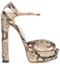 Casadei - platform sandals - women - Leather/Kid Leather/King Rat Snake - 35.5, 36, 36.5, 37, 37.5, 40, 41, 38.5, 39, 39.5, 40.5, 41.5 - NUDE & NEU...