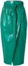 Philosophy Di Lorenzo Serafini - wrap around midi skirt - women - Viscose/Linen/Flax - 40, 42 - GREEN