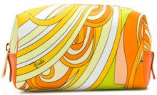 Emilio Pucci - Trousse con stampa multicolore - women - Calf Leather/Polyamide/Polyester/Viscose - One Size - YELLOW & ORANGE