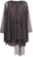 Barbara Bologna - striped layered tulle blouse - women - Polyamide - OS - GREY