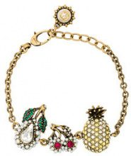 Gucci - Crystal Fruit Charm Bracelet - women - Metal (Other)/Crystal - OS - Metallizzato