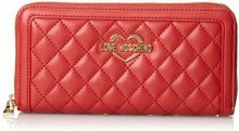 Love Moschino Portafogli Quilted Nappa Pu Rosso - Pochette da giorno Donna, (Red), 3x10x20 cm (B x H T)