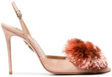 Aquazzura - Pumps 'Powder Puff 105' - women - Leather/Suede - 36, 37.5, 38, 38.5, 41, 36.5, 37, 39, 40, 40.5, 35, 35.5 - Rosa & viola