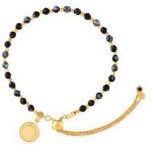 Astley Clarke - Braccialetto 'Thundercloud Obsidian Kula' - women - Pietra/18kt Yellow Gold - OS - BLACK