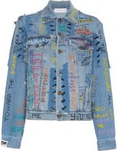 Faith Connexion - Giacca denim 'Graffiti' - women - Cotton - XS, S, M, L - BLUE