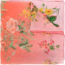 Alexander McQueen - Scialle a fiori - women - Silk - OS - PINK & PURPLE