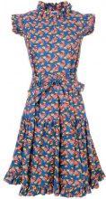 La Doublej - Vestito svasato con stampa - women - Cotton - L, XL - BLUE