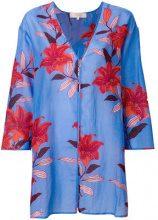 Diane Von Furstenberg - Kaftano con stampa a fiori - women - Silk/Cotton - XS, S, M, L - BLUE