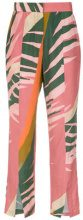 Osklen - Graphique Militar pants - women - Viscose - 36, 38, 40, 42 - PINK & PURPLE