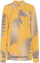 Double Rainbouu - palm print shirt - women - Rayon - XS, S - YELLOW & ORANGE
