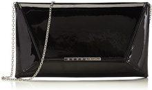 Buffalo Bag 14907 Patent PU, Pochette da Giorno Donna, Nero (Black 01), 1x17x30 cm (B x H x T)