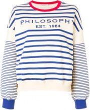 Philosophy Di Lorenzo Serafini - Maglione con logo - women - Cotton - S, M, XS - BLUE